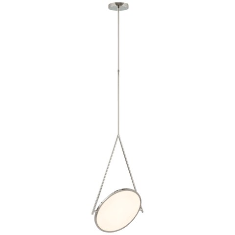 """Dot Stance 16"""" Rotating Pendant in Polished Nickel"""