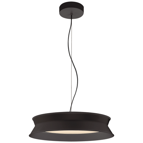 "60/40 Dot 16"" Pendant in Stone Black"