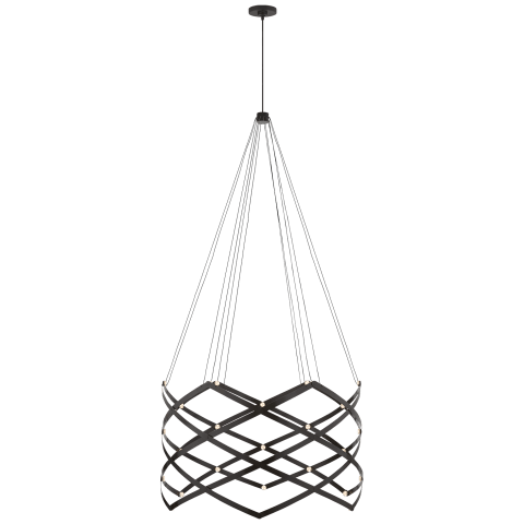 Interlace Expandable Chandelier in Matte Black
