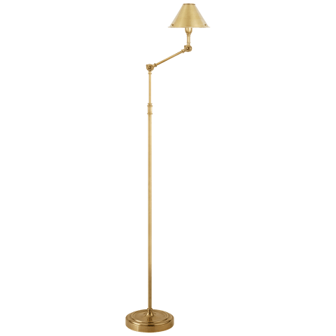 Anette Floor Lamp in Natural Brass