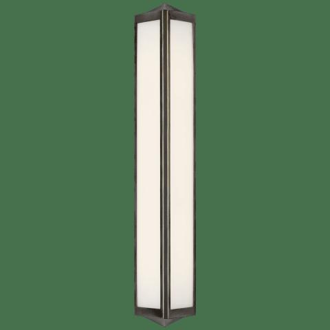Geneva Medium Sconce in Bronze with White Glass