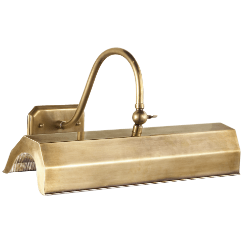 Willoughby Medium Picture Light in Natural Brass