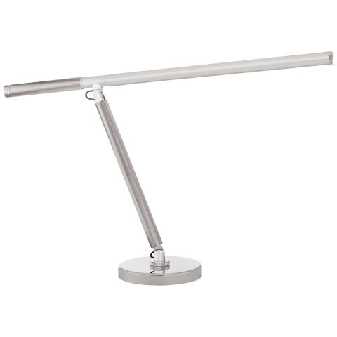 Barrett Knurled Boom Arm Desk Light in Polished Nickel
