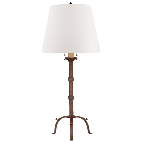 Robertson Table Lamp in Natural Rust with White Paper Shade
