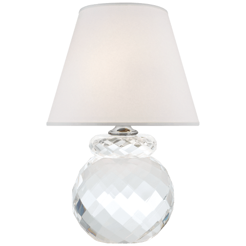 Daniela Accent Lamp in Crystal with Silk Shade