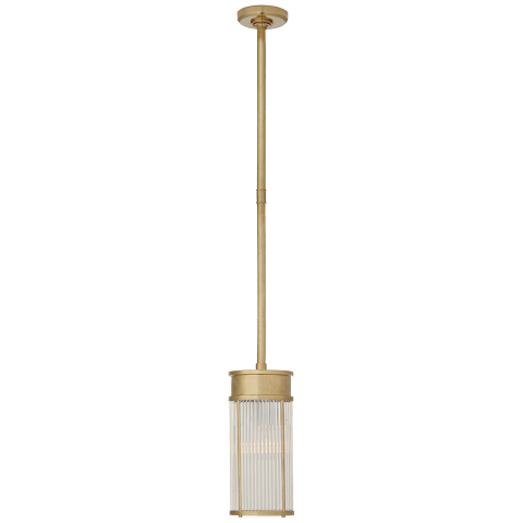 Allen Small Pendant in Natural Brass and Glass Rods