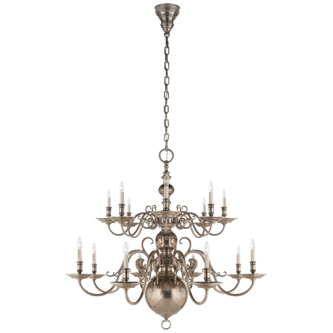 Lillianne Double Tiered Chandelier in Butler's Silver