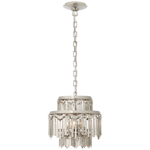 Natalie Small Tiered Chandelier in Polished Nickel