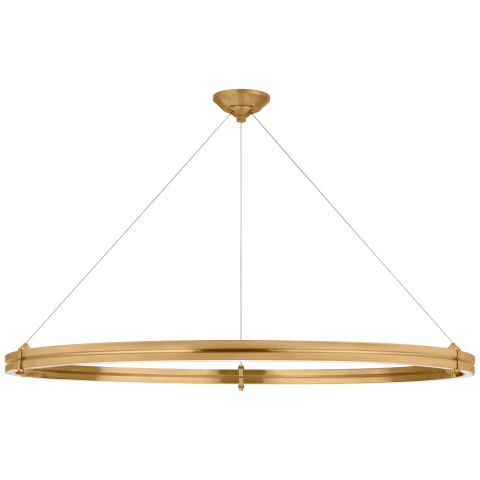 "Paxton 46"" Ring Chandelier in Natural Brass"