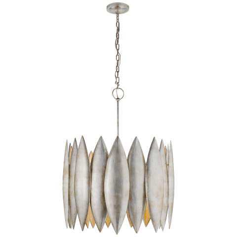 Hatton Large Chandelier in Burnished Silver Leaf