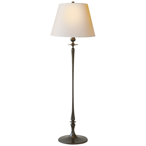 Rome Grande Floor Lamp in Bronze with Natural Paper Shade