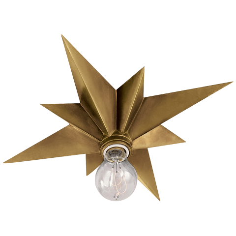 Star Flush Mount in Hand-Rubbed Antique Brass
