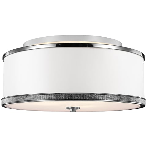 Pave Medium Semi-Flush Mount Polished Nickel
