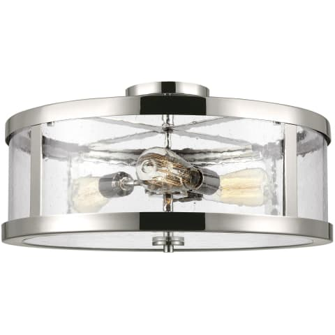 Harrow 3 - Light Semi Flush Mount Polished Nickel