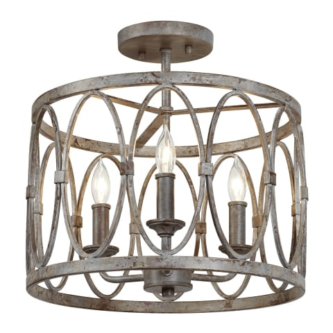 Patrice 3 - Light Semi Flush Mount Deep Abyss