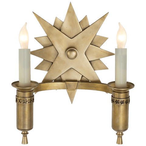 Miguel Double Sconce in Hand-Rubbed Antique Brass
