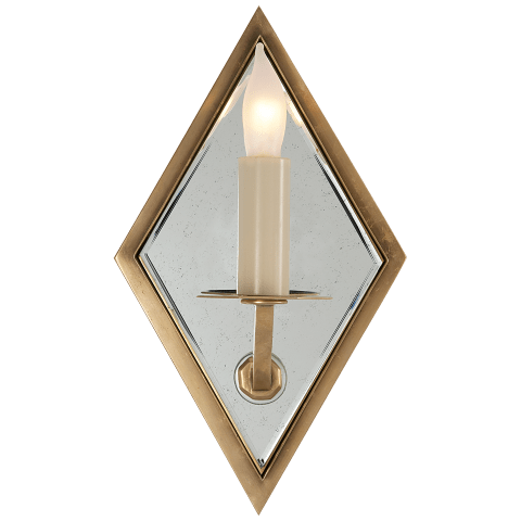 Jenna Mirrored Sconce in Hand-Rubbed Antique Brass