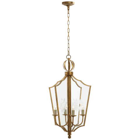 Maher Lantern in Gilded Iron