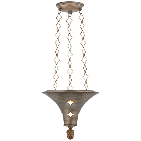 Callie Lantern in Burnished Silver Leaf