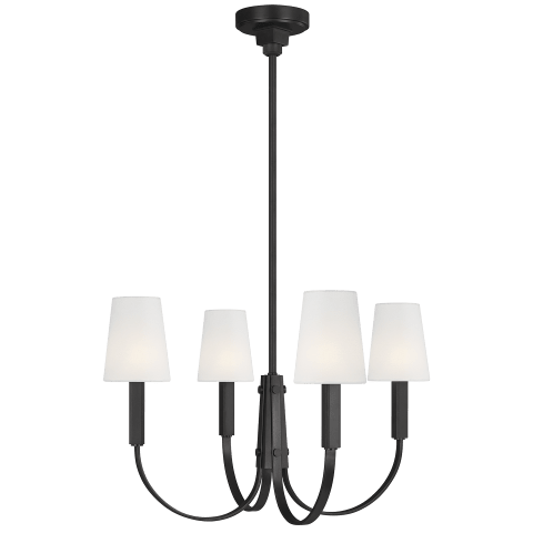 Logan 4 - Light Chandelier Aged Iron