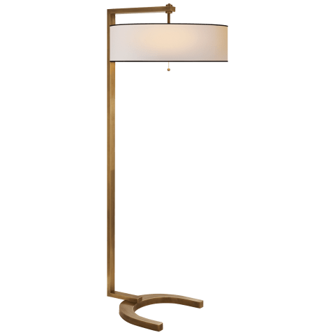Hudson Floor Lamp in Bronze with Natural Paper Shade