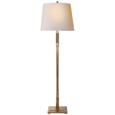 Marcus Floor Lamp in Gild with Natural Paper Shade