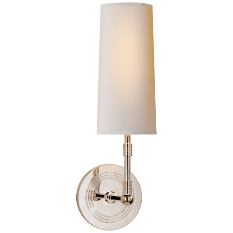 Ziyi Sconce in Polished Nickel with Natural Paper Shade