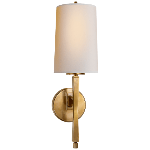 Edie Sconce in Hand-Rubbed Antique Brass with Natural Paper Shade