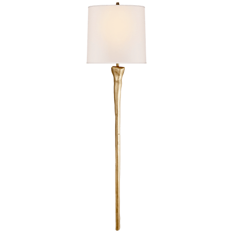 Sierra Tail Sconce in Gild with Natural Paper Shade