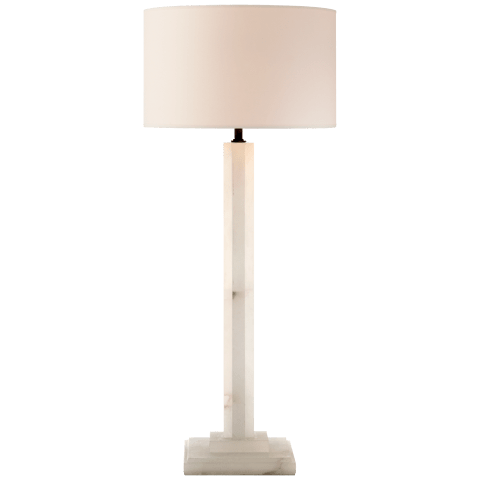 Michelangelo Buffet Lamp in Alabaster with Natural Paper Shade