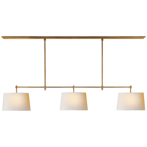 Bryant Large Billiard in Bronze with Natural Paper Shades