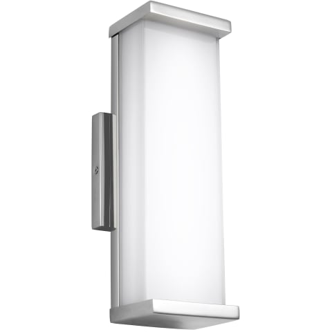 """Altron 13"""" Tall Indoor / Outdoor LED Wall Sconce Polished Stainless Steel"""