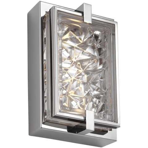 "Erin 9"" Tall LED Indoor / Outdoor Wall Sconce Polished Stainless Steel Bulbs Inc"