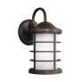 Sauganash Small One Light Outdoor Wall Lantern Antique Bronze