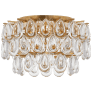 Liscia Small Flush Mount in Gild with Crystal