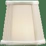 "3.5"" x 5"" x 5"" Silk Pleated Corner Candle Clip Shade"