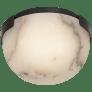"Melange 5"" Solitaire Flush Mount in Bronze with Alabaster Shade"