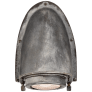Grant Small Sconce in Weathered Zinc with Industrial Prismatic Glass