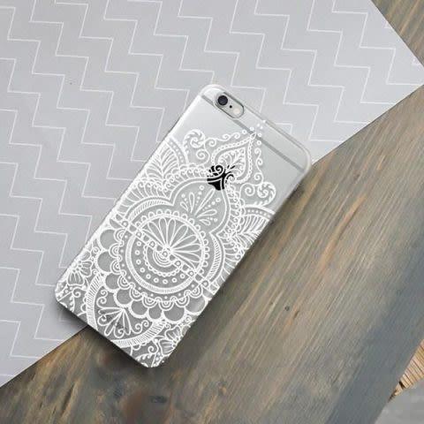 Funda Case Love Mandala A iPhone SE / 5 / 5S - Transparente