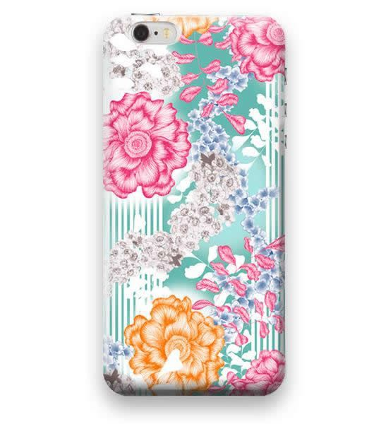 Funda Case Love Flores B iPhone SE / 5 / 5S - Rosa