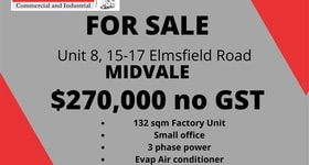 Factory, Warehouse & Industrial commercial property for sale at 8/15-17 Elmsfield Road Midvale WA 6056