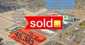 Development / Land commercial property sold at 420 Craigieburn Road Craigieburn VIC 3064