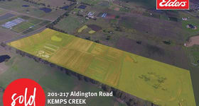 Development / Land commercial property sold at 201-217 Aldington Road Kemps Creek NSW 2178