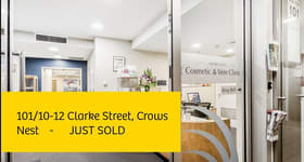 Offices commercial property sold at 101/10-12 Clarke Street Crows Nest NSW 2065