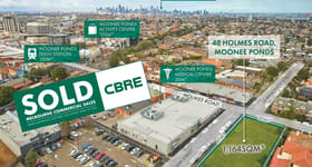 Development / Land commercial property sold at 48 Holmes Road Moonee Ponds VIC 3039