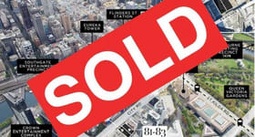 Development / Land commercial property sold at 81-83 & 85-87 City Road Southbank VIC 3006