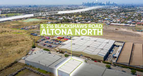 Factory, Warehouse & Industrial commercial property for sale at 5/216 Blackshaws Road Altona North VIC 3025