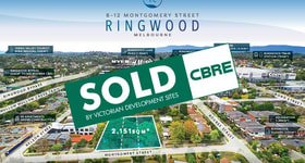 Development / Land commercial property sold at 8-12 Montgomery Street Ringwood VIC 3134