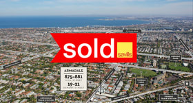 Development / Land commercial property sold at 875-881 High Street & 19-21 Osment Street Armadale VIC 3143