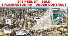 Medical / Consulting commercial property sold at 1 Flemington Rd & 245 Peel St (BORDERING CARLTON) North Melbourne VIC 3051